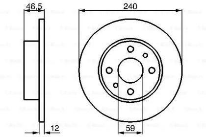 Тормозной диск на FIAT UNO 'BOSCH 0 986 478 353'.