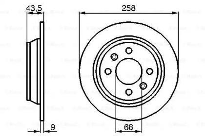 Тормозной диск на Сааб 9000 'BOSCH 0 986 478 374'.