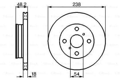 Вентилируемый тормозной диск на TOYOTA CORONA 'BOSCH 0 986 478 385'.