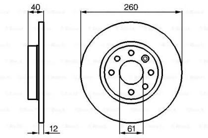 Тормозной диск на VOLVO 480 'BOSCH 0 986 478 386'.