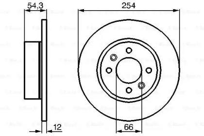 Тормозной диск на Рено 25 'BOSCH 0 986 478 390'.