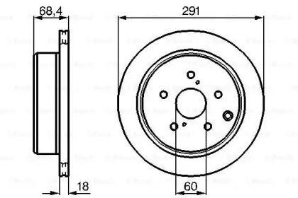 Вентилируемый тормозной диск на Тайота Супра 'BOSCH 0 986 478 443'.