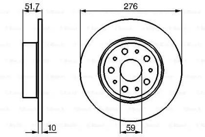 Тормозной диск на LANCIA KAPPA BOSCH 0 986 478 463.