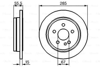 Тормозной диск на MERCEDES-BENZ M-CLASS 'BOSCH 0 986 478 469'.