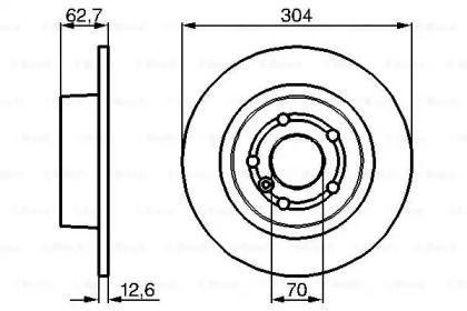 Тормозной диск на Рендж Ровер 'BOSCH 0 986 478 497'.