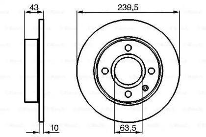 Тормозной диск на FORD ESCORT 'BOSCH 0 986 478 501'.