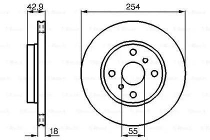 Вентилируемый тормозной диск на TOYOTA STARLET 'BOSCH 0 986 478 585'.