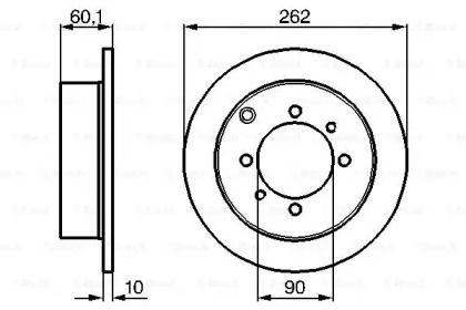 Тормозной диск на Хендай Сантамо 'BOSCH 0 986 478 655'.