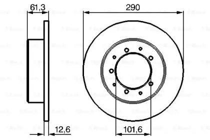 Тормозной диск на DEFENDER 'BOSCH 0 986 478 656'.