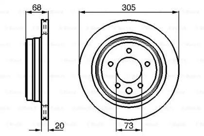 Вентилируемый тормозной диск на JAGUAR XK 'BOSCH 0 986 478 660'.