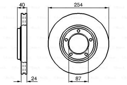 Вентилируемый тормозной диск на HYUNDAI H-1 'BOSCH 0 986 478 663'.