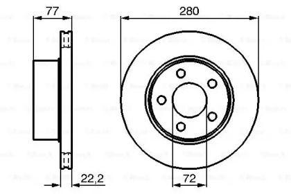 Вентилируемый тормозной диск на Джип Каманч 'BOSCH 0 986 478 694'.