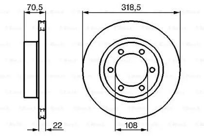 Вентилируемый тормозной диск на Тайота 4-Раннер 'BOSCH 0 986 478 698'.