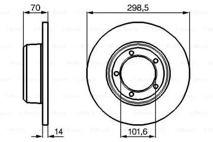 Тормозной диск на Дефендер 'BOSCH 0 986 478 827'.