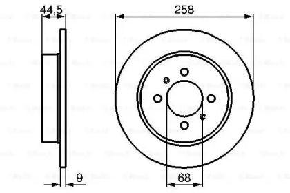 Тормозной диск на NISSAN SUNNY 'BOSCH 0 986 478 836'.