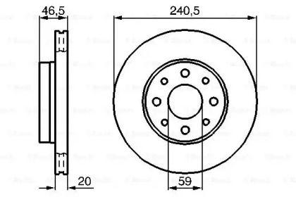 Вентилируемый тормозной диск на Фиат Сена 'BOSCH 0 986 478 878'.