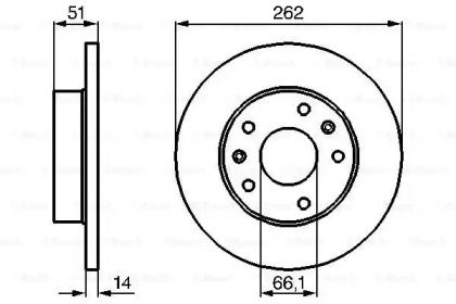 Тормозной диск на FREELANDER 'BOSCH 0 986 478 991'.