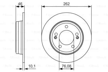 Тормозной диск на Хендай Ай30 'BOSCH 0 986 479 052'.