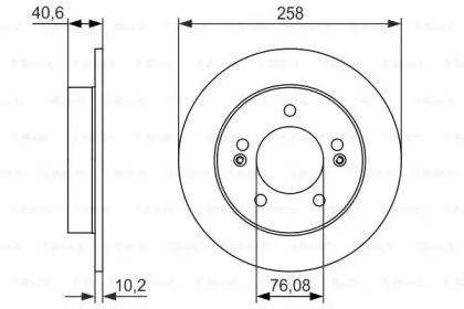 Тормозной диск на HYUNDAI IX20 'BOSCH 0 986 479 059'.