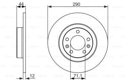 Тормозной диск на Пежо 508 'BOSCH 0 986 479 130'.
