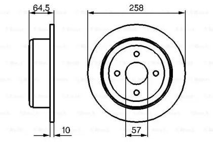 Тормозной диск на Дэу Леганза 'BOSCH 0 986 479 220'.