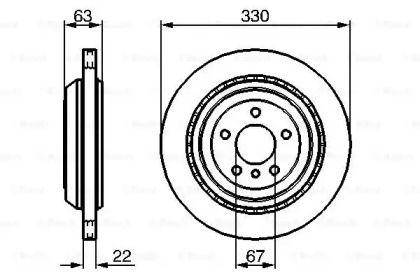 Вентилируемый тормозной диск на MERCEDES-BENZ GL-CLASS 'BOSCH 0 986 479 285'.