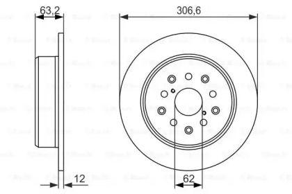 Тормозной диск на LEXUS SC 'BOSCH 0 986 479 339'.