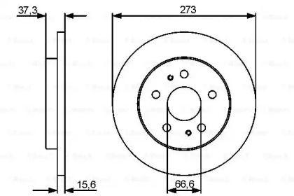 Тормозной диск на Дайхатсу Териос 'BOSCH 0 986 479 432'.
