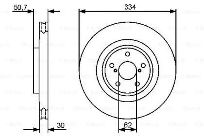 Вентилируемый тормозной диск на LEXUS RC 'BOSCH 0 986 479 433'.