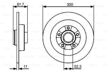 Тормозной диск на RENAULT LATITUDE 'BOSCH 0 986 479 446'.