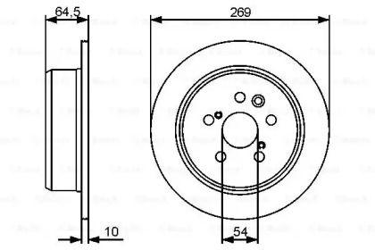 Тормозной диск на Тайота Корона 'BOSCH 0 986 479 483'.