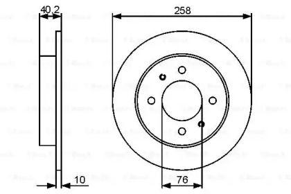 Тормозной диск на HYUNDAI ELANTRA 'BOSCH 0 986 479 484'.