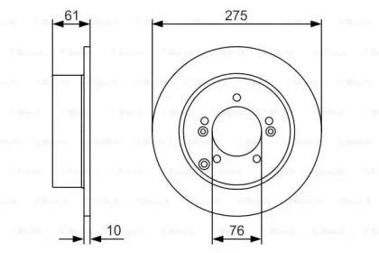 Тормозной диск на KIA CARENS 'BOSCH 0 986 479 525'.
