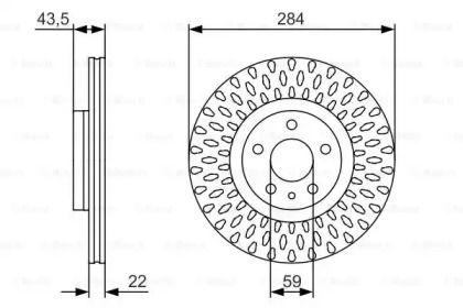 Вентилируемый тормозной диск на FIAT 500L 'BOSCH 0 986 479 558'.