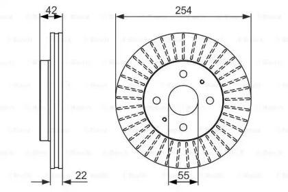 Вентилируемый тормозной диск на DAIHATSU MATERIA 'BOSCH 0 986 479 685'.