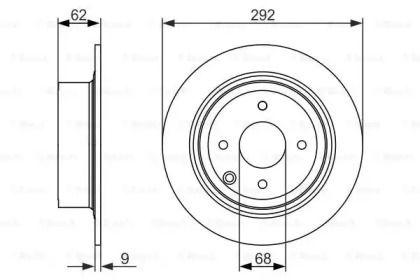 Тормозной диск на NISSAN CUBE 'BOSCH 0 986 479 742'.