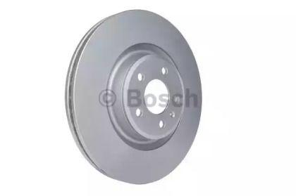 Вентилируемый тормозной диск на Порше Макан 'BOSCH 0 986 479 747'.