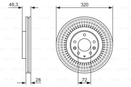 Вентилируемый тормозной диск на MAZDA CX-9 'BOSCH 0 986 479 795'.