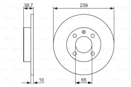 Тормозной диск на Фольксваген Гольф 'BOSCH 0 986 479 824'.