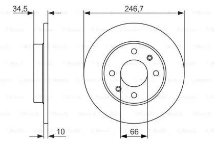 Тормозной диск на PEUGEOT 405 'BOSCH 0 986 479 827'.