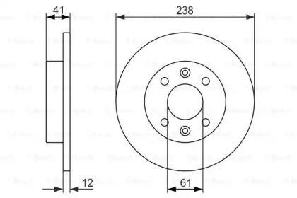 Тормозной диск на RENAULT EXPRESS 'BOSCH 0 986 479 831'.
