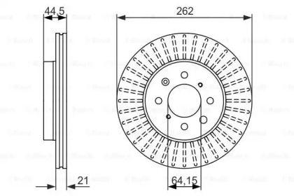 Вентилируемый тормозной диск на ROVER STREETWISE 'BOSCH 0 986 479 838'.