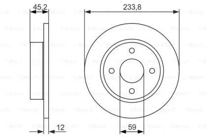 Тормозной диск на NISSAN MICRA 'BOSCH 0 986 479 852'.