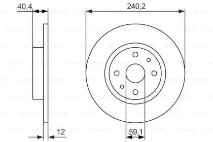 Тормозной диск на Лянча Ипсилон 'BOSCH 0 986 479 858'.
