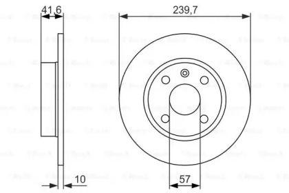 Тормозной диск на OPEL TIGRA 'BOSCH 0 986 479 903'.