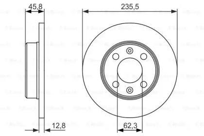 Тормозной диск на Шкода Фаворит 'BOSCH 0 986 479 913'.