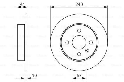 Тормозной диск на OPEL MERIVA 'BOSCH 0 986 479 918'.
