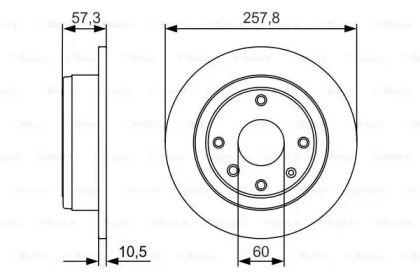 Тормозной диск на CHEVROLET OPTRA 'BOSCH 0 986 479 985'.