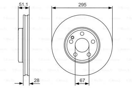 Вентилируемый тормозной диск на MERCEDES-BENZ CLA 'BOSCH 0 986 479 A01'.