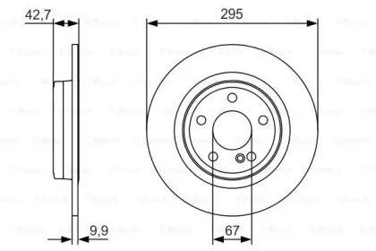 Тормозной диск на Мерседес Б класс 'BOSCH 0 986 479 A04'.